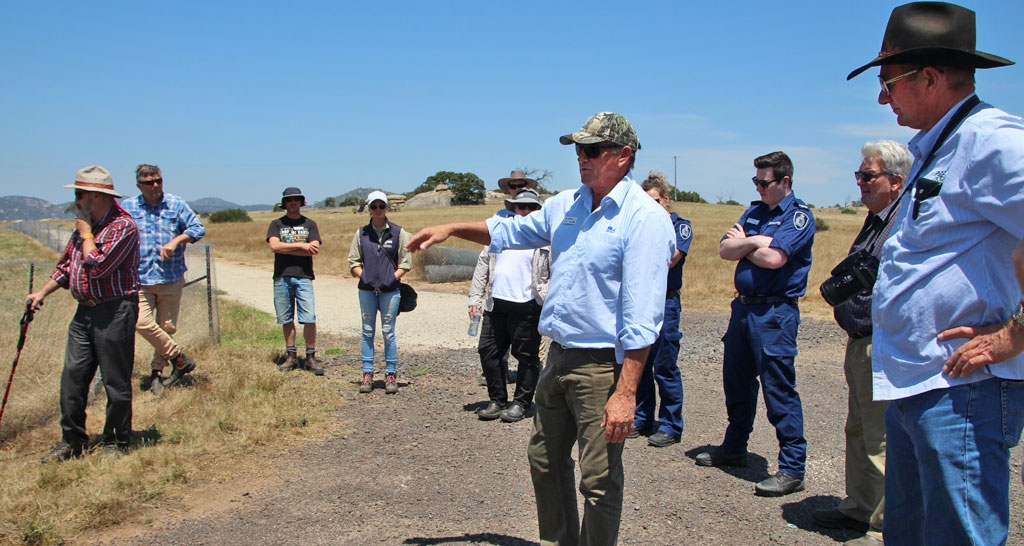 Rabbit learning network participants visiting the Mount Rothwell Conservation and Research Centre west of Melbourne, to study their conservation and rabbit control efforts. The learning network is one of the project's capacity building programs.