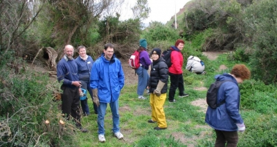 Spencer Unthank (left) with members of the Penguin Study Group.
